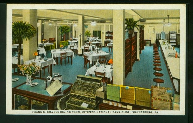 According To The Back Of This Postcard Silveus Dining Room Was Elite Parlor Waynesburg Pa Where Meet And Eat Enjoy