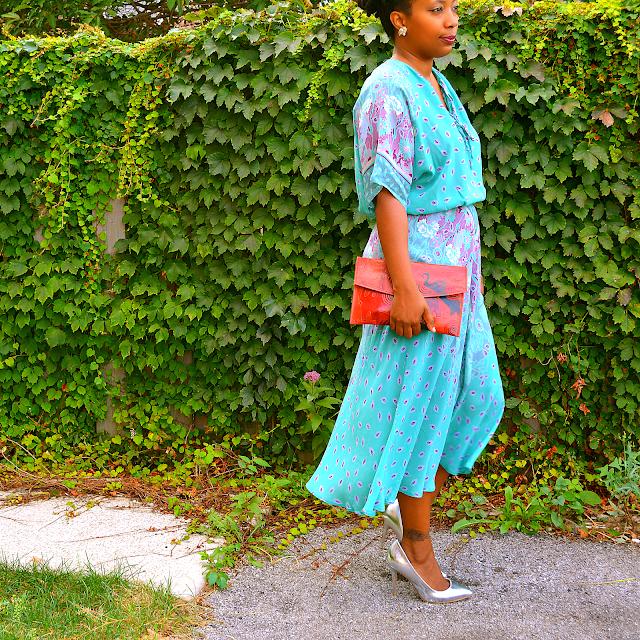 70s kimono sleeve dress