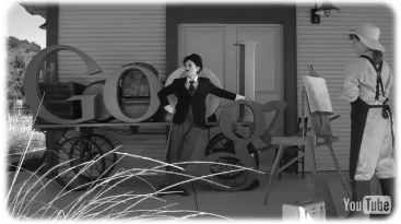 Google salutes Charlie Chaplin with Video Doodle, Charlie Chaplin celebrated with video Google doodle on 122nd birthday,Google Celebrates Charlie Chaplin's Birthday with an Animated Doodle, Charlie_Chaplin_Google_Doodle, picture, image, photo, video, wallpaper, hd picture