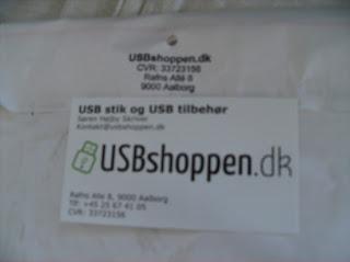 Visitkort fra USBshoppen.dk