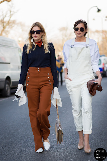 Street style peto vaquero blanco