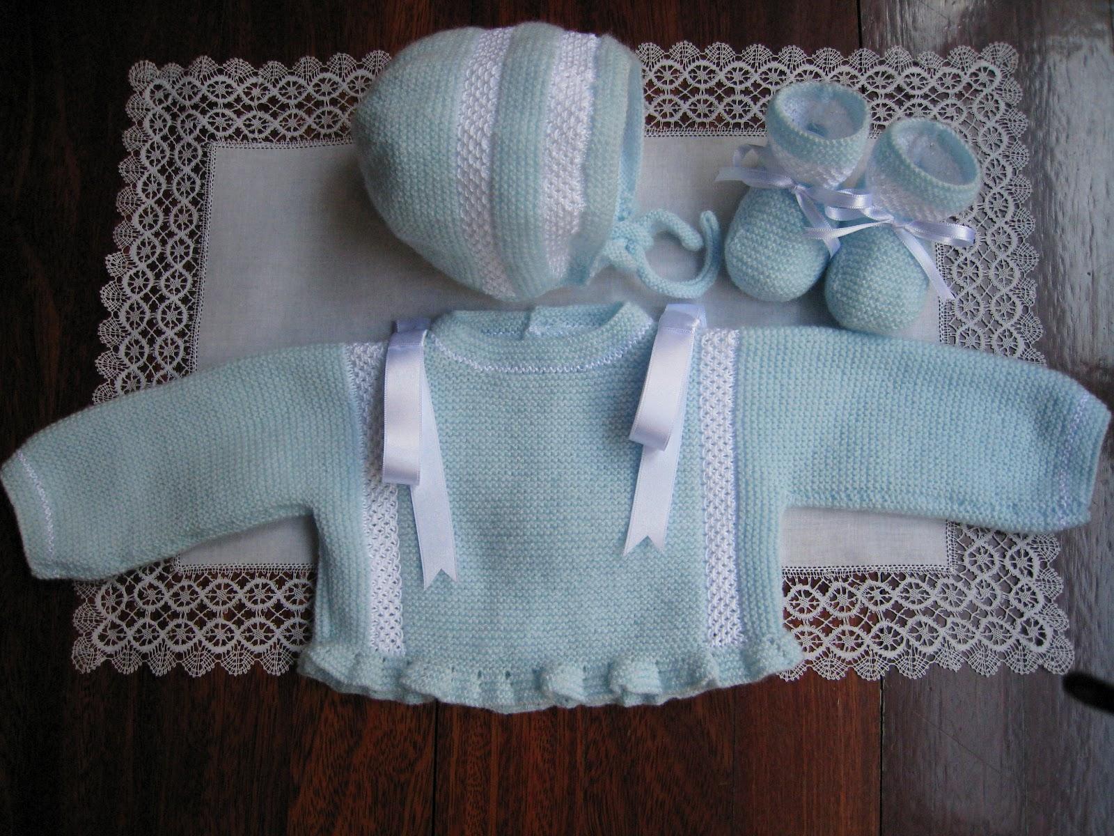 Las agujas de majos conjunto azul - Labores de punto de lana ...