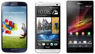هل تريد شراء أفضل هاتف به نظام الأندرويد؛ إليك أفضل 5 أنواع من الهواتف الأندرويد 2013