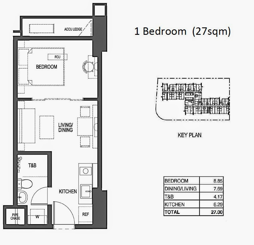 100 West @ Makati City, Philippines 1 br