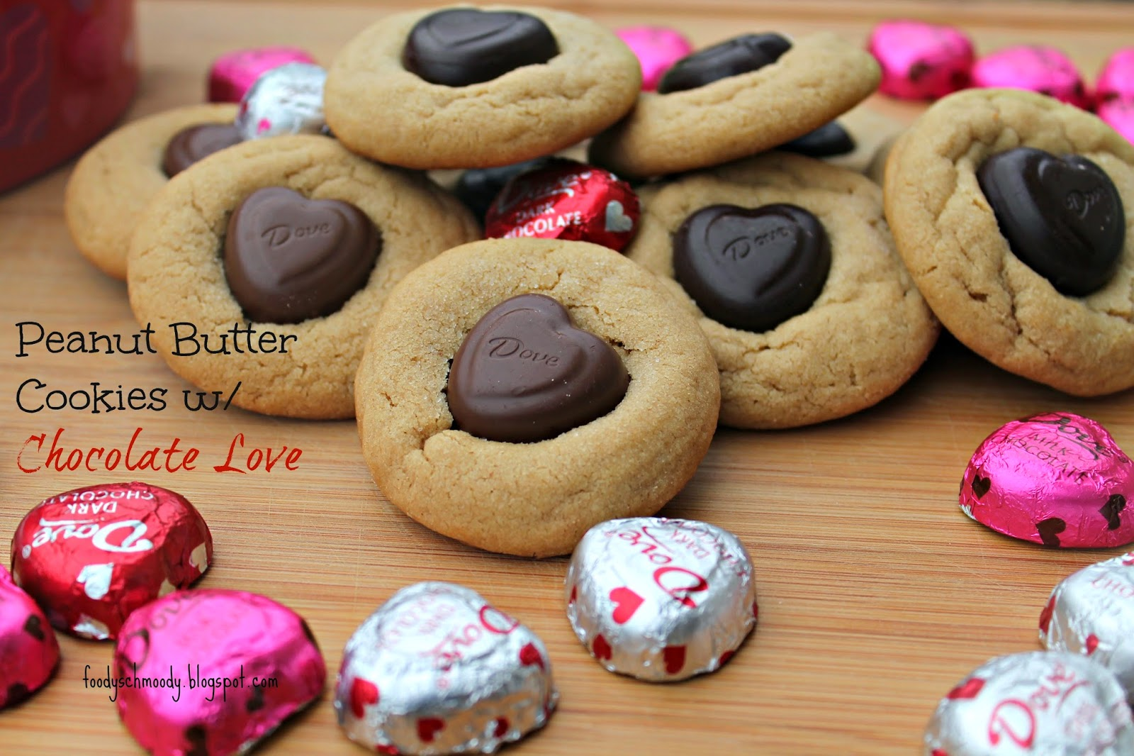 Peanut Butter Cookies w/ Chocolate Love