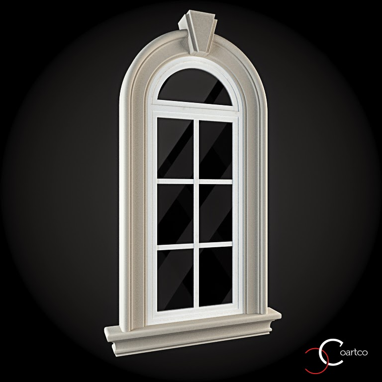 Ornamente Geamuri Exterior, Arcada, fatade case cu profile decorative polistiren, profile fatada,  Model Cod: WIN-020