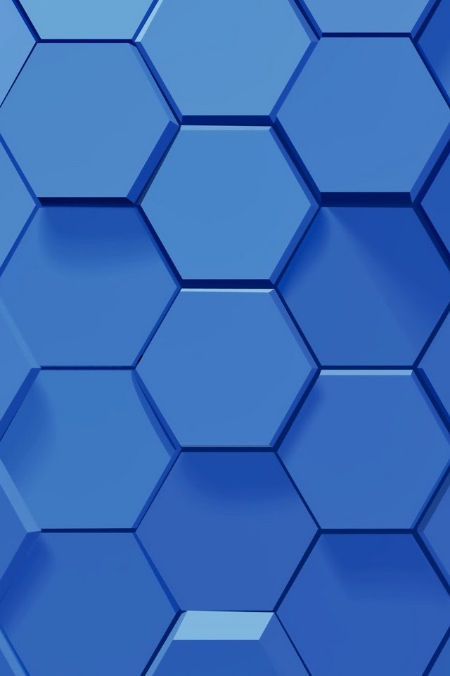 3D Blue Hexagons   Galaxy Note HD Wallpaper