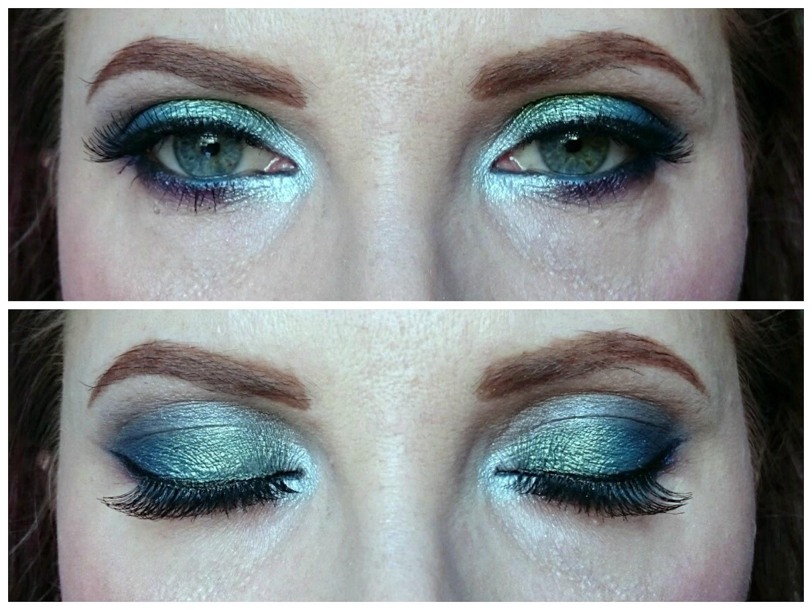 Mermaid eye makeup look