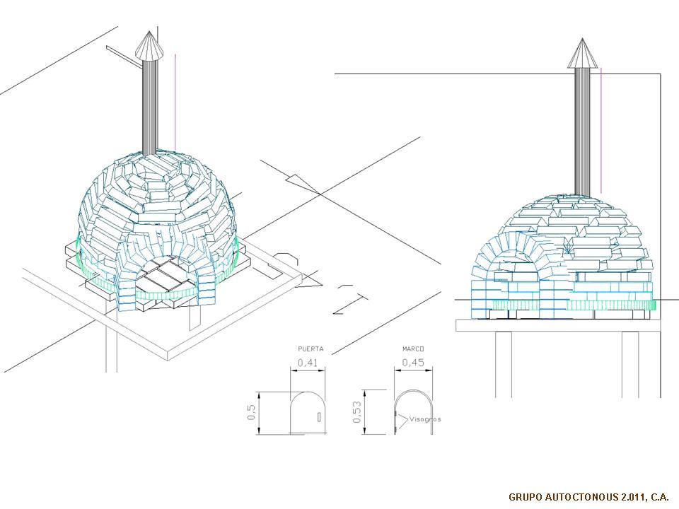 Arquitectura ind gena horno de le a - Hornos de lena planos ...