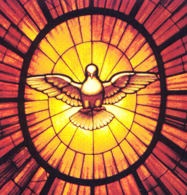 La Paz siempre se ha representado en forma de Paloma.  Esta es la imagen que evoca el Espíritu Santo en la Basílica de San Pedro.