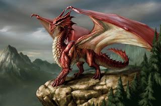 Gambar Naga Merah api