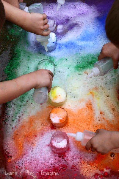 Foaming rainbow eruptions