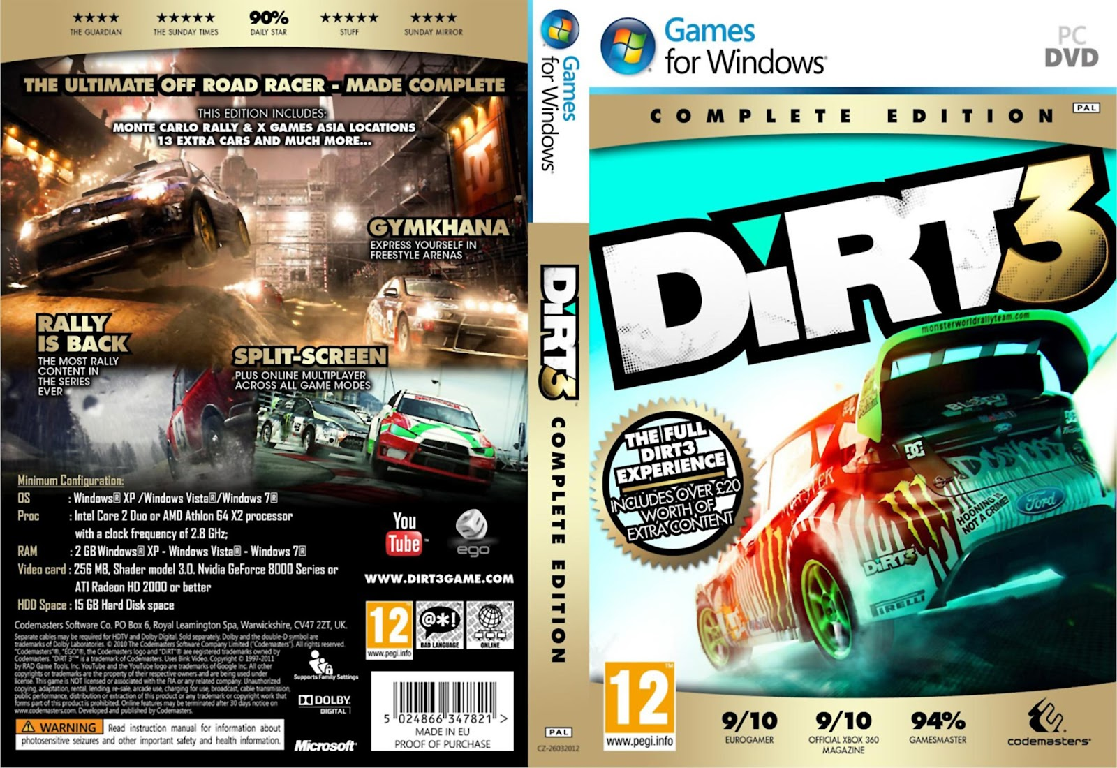 download dirt 3 complete edition pcdvd fightclub. Black Bedroom Furniture Sets. Home Design Ideas