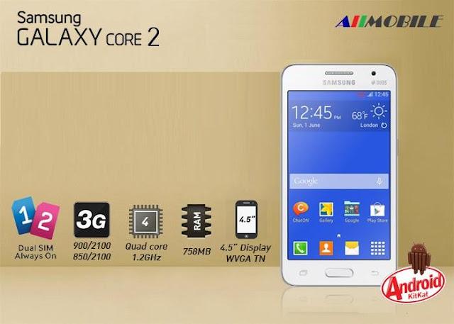 Spesifikasi Samsung Galaxy Core 2 paling baru
