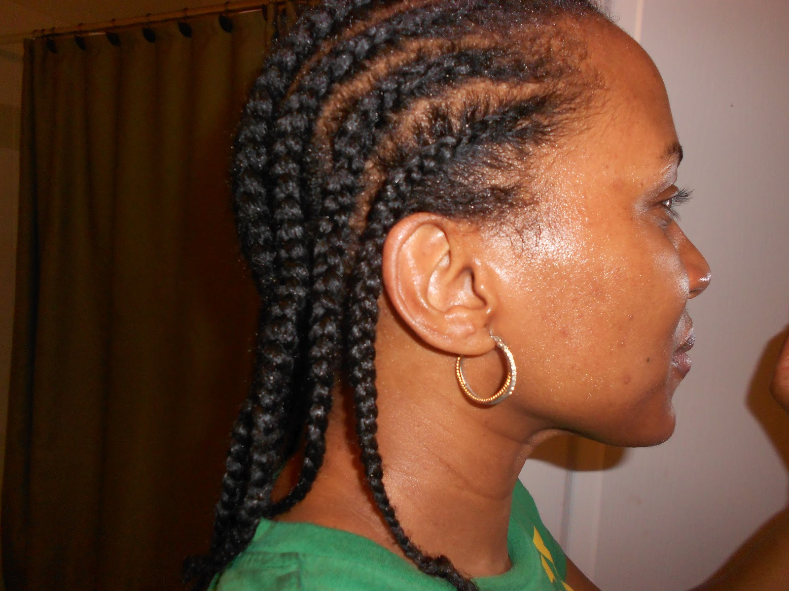 Crochet Hair Without Braiding : my hair. This was the first time that Ive added cornrows to my hair ...