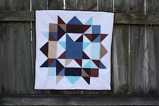 Swoon like quilt block floor pillow
