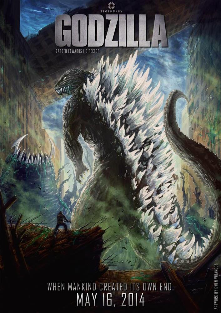 Gwen Vibancos - Aperçu de mon travail Affiche+cin%C3%A9+Godzilla+Reboot+(V2+slogan1+Light)