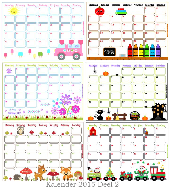 Kalender 2015 Annekoendigitaal, Kalender 2015 Annekoendigitaal, kalender voor kinderen, kalender om uit printen, maandkalenders, kalenders 2015, januari 2015