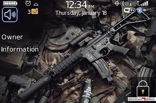 1264747053 Weaponology for BlackBerry Bold 9000 Themes