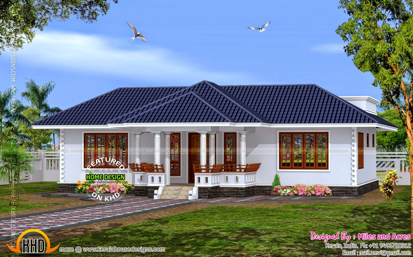 Siddu buzz online house plan of single floor house for Home designs in kerala