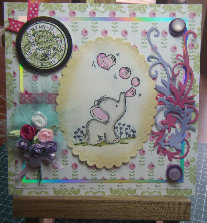 Latest card using a lili of the valley stamp