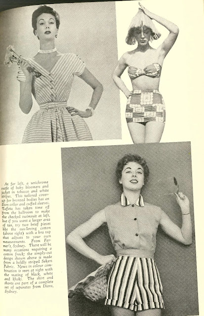 1950s wedding honeymoon bathing suit