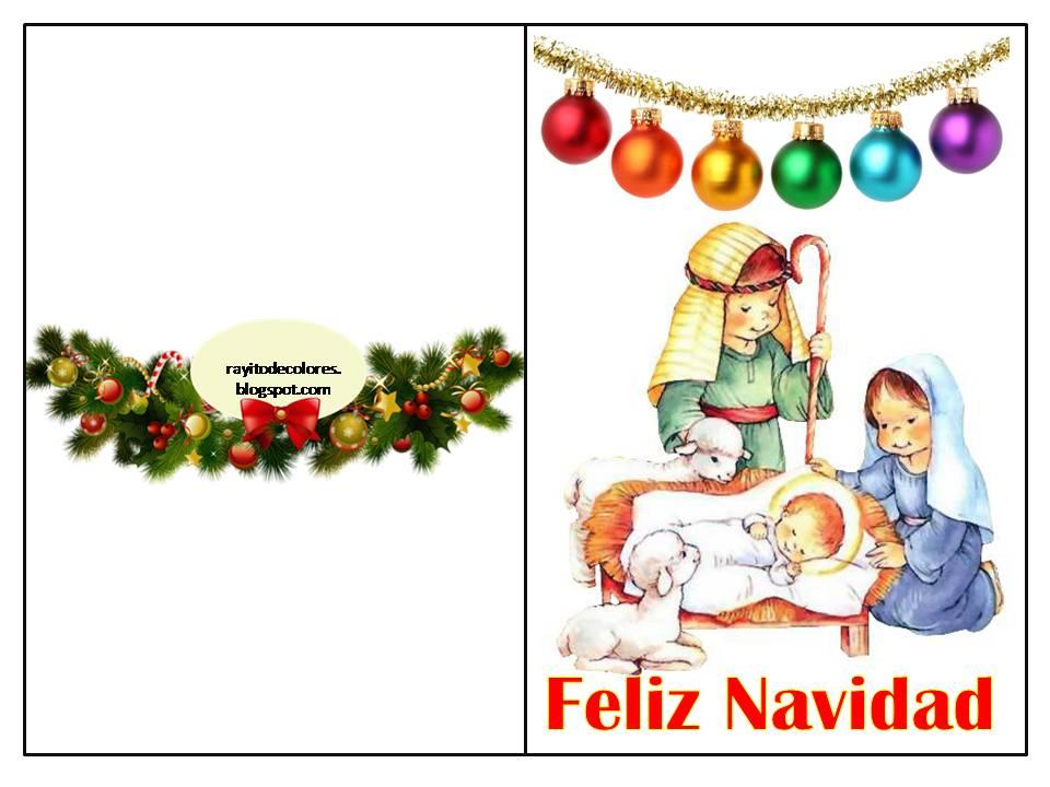Compartiendo por amor tarjetas navidad para imprimir - Dibujos tarjetas navidenas ...