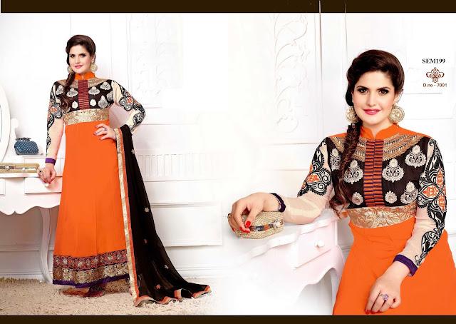 New Arrival Zarine Khan Designer Anarkali Suit