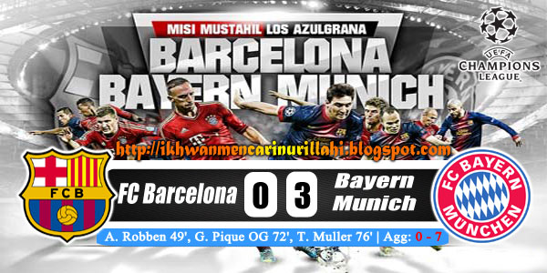 Keputusan Barcelona vs Bayern Munich 2 Mei 2013 - UEFA Champions League Semi-Final