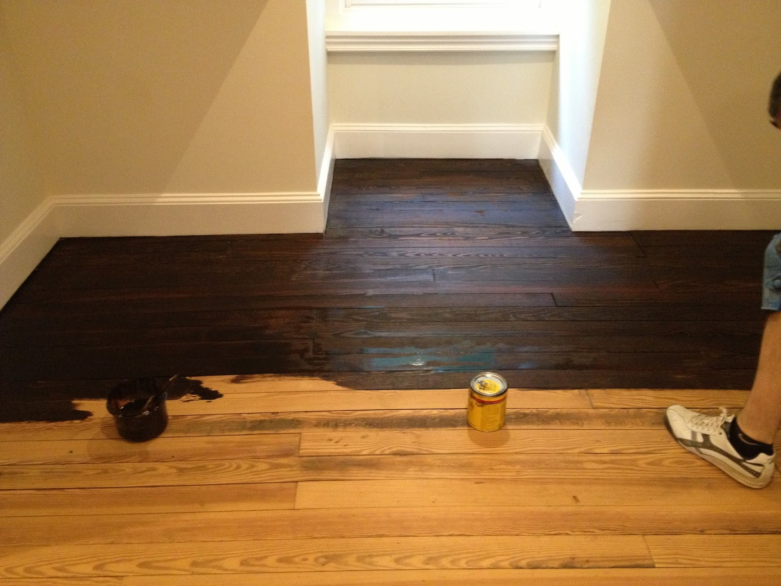 high street market: 3rd floor: refinished hardwood floor diy