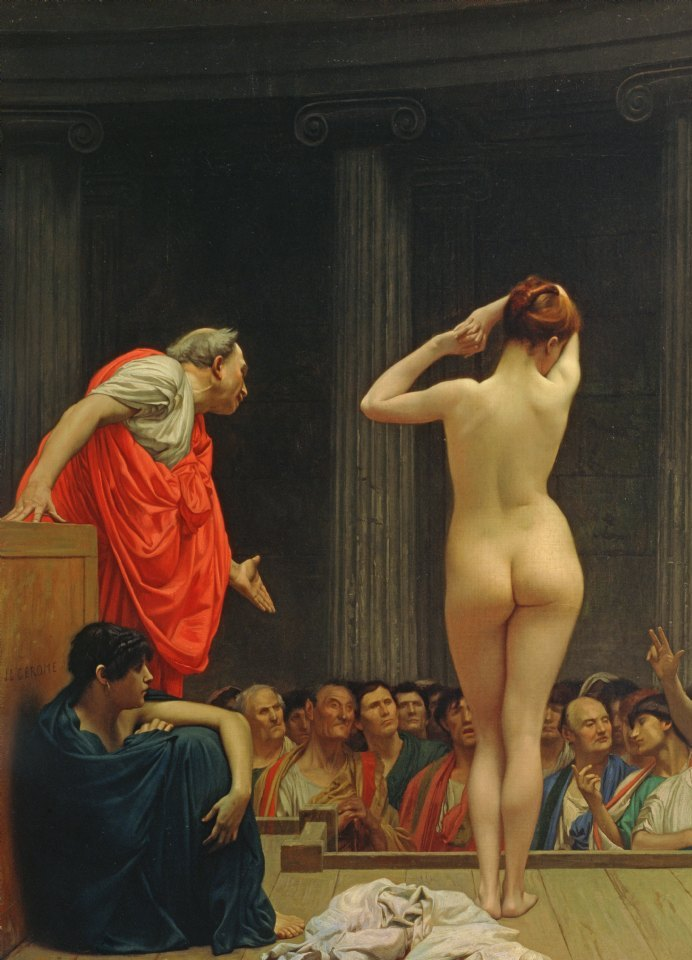 A Roman Slave Market, Jean-Léon Gérôme (11 May 1824 – 10 January 1904)