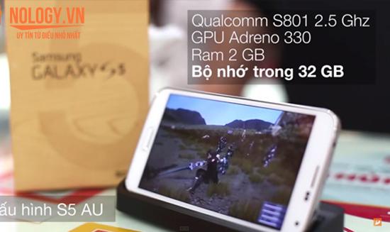 hiệu năng chiếc Samsung Galaxy S5 Au