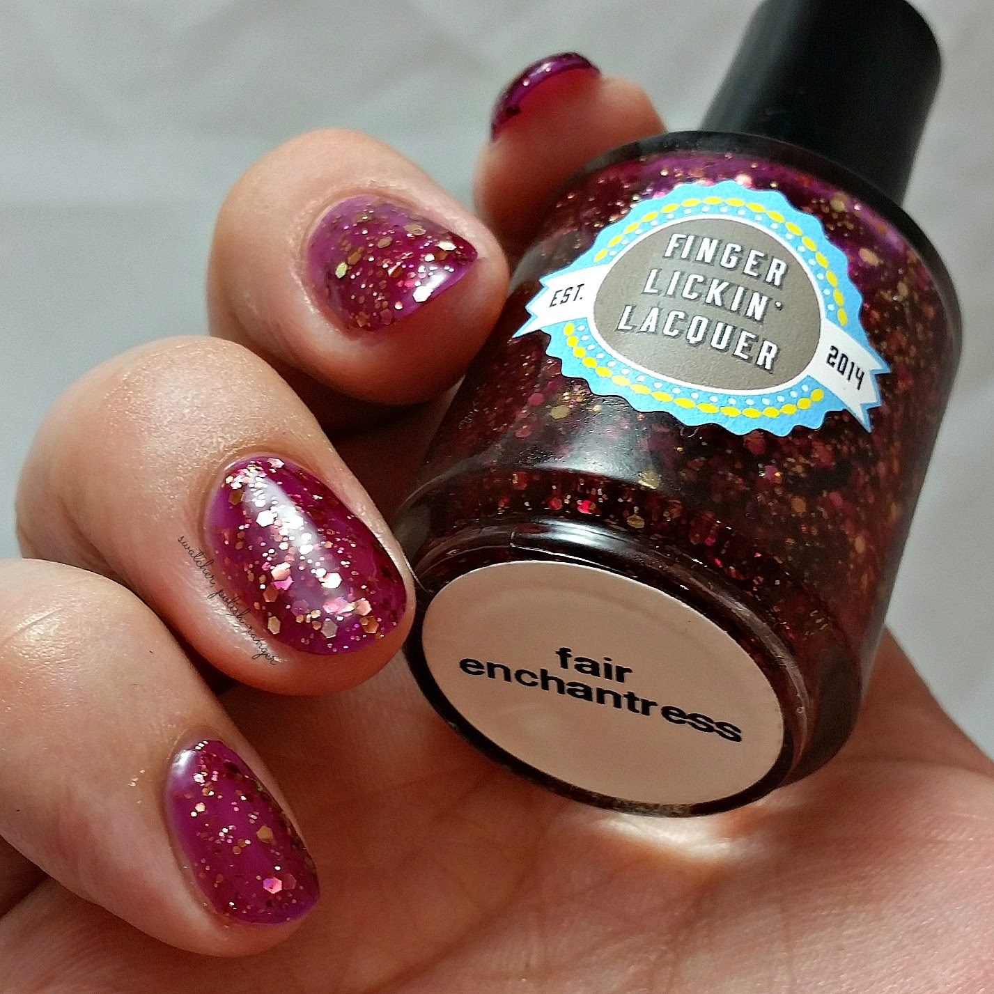 swatcher, polish-ranger | Finger Lickin Lacquer Fair Enchantress swatch