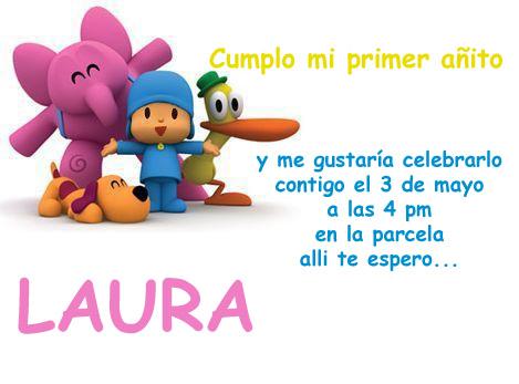 Tarjetas para cumpleaños de Pocoyo para imprimir gratis - Imagui
