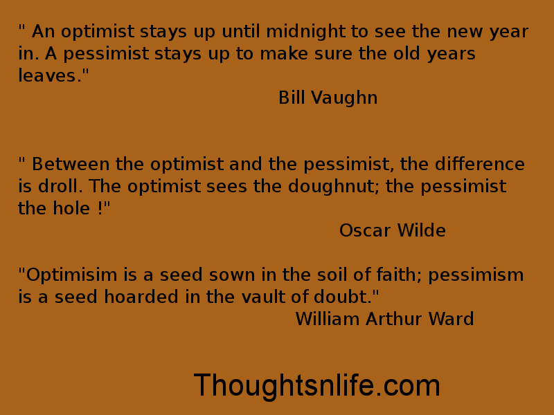 Thoughtnlife : An optimist vs. Pessimist