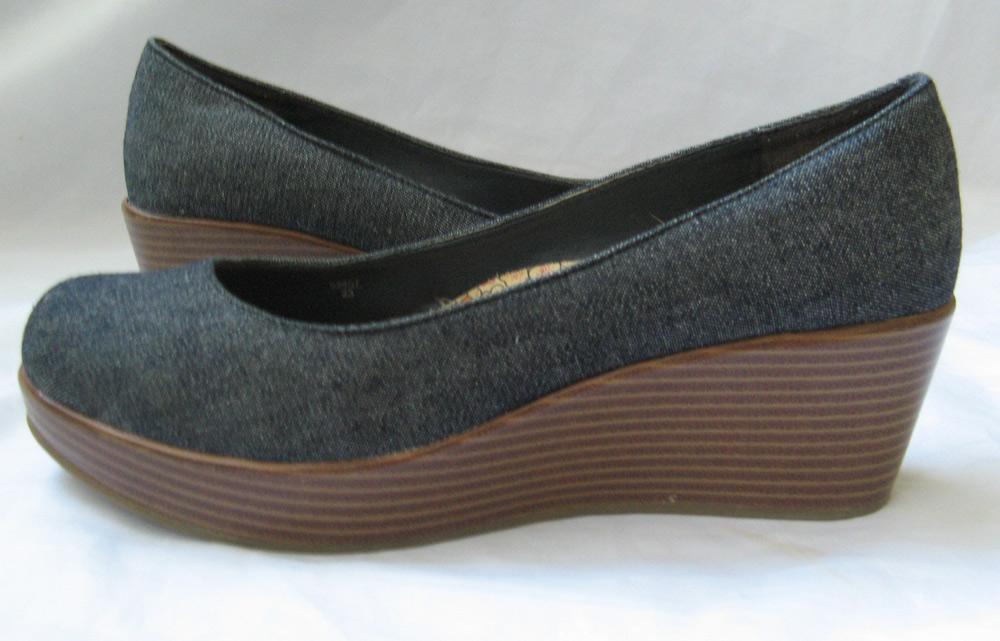 closet jean wedge platform shoes american eagle size 6 5