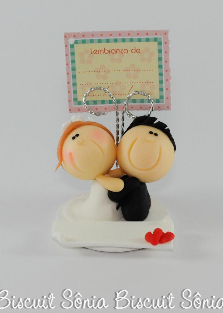 lembrancinha de casamento biscuit