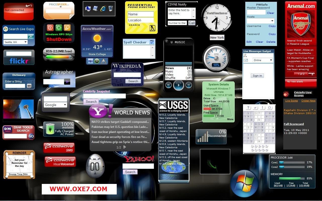 900 gadgets for windows vista windows 7