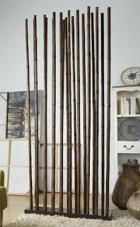 separado de hambientes, biombo decorativo, palos de bambu, caña de bambu, recibidor
