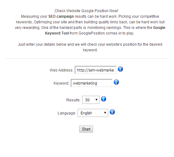 check google position