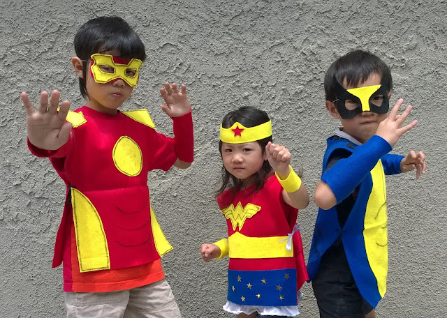 no sew kids super hero costumes