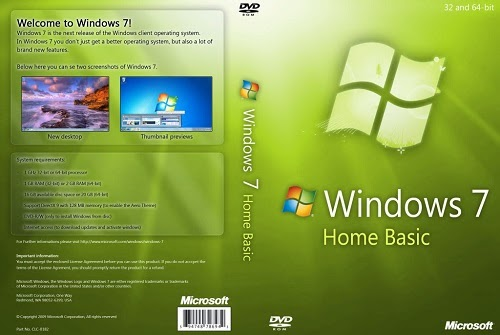 Windows 7 Home Basic Sp1 Orjinal Dvd 32 Bit T�rk�e Tek Link