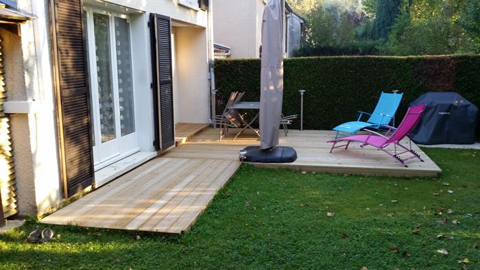 terrasse bois;pin classe 4;terrasse repos; terrasse repas;terrasse