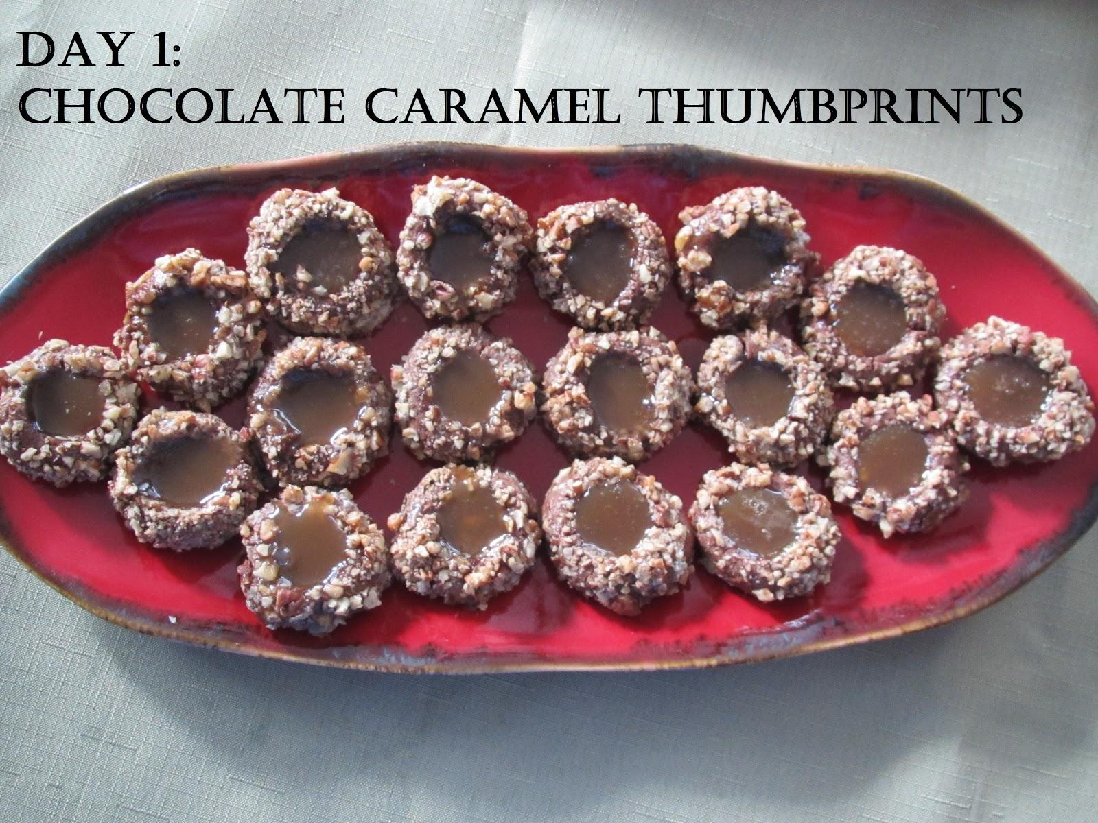 Pammi Cakes Recipes: Day One: Chocolate Caramel Thumbprints Recipe