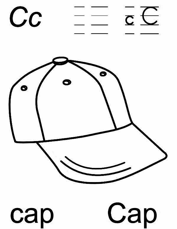 Printable Alphabet Coloring Pages Cap