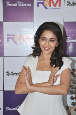 Madhuri Dixit Sexy White Dress The Launch Her Online Dance