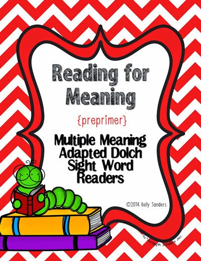 http://www.teacherspayteachers.com/Product/Reading-for-Meaning-Multiple-Meaning-Preprimer-Adapted-Dolch-Sight-Word-Readers-1302383