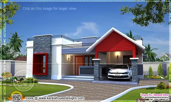 Modern single floor house