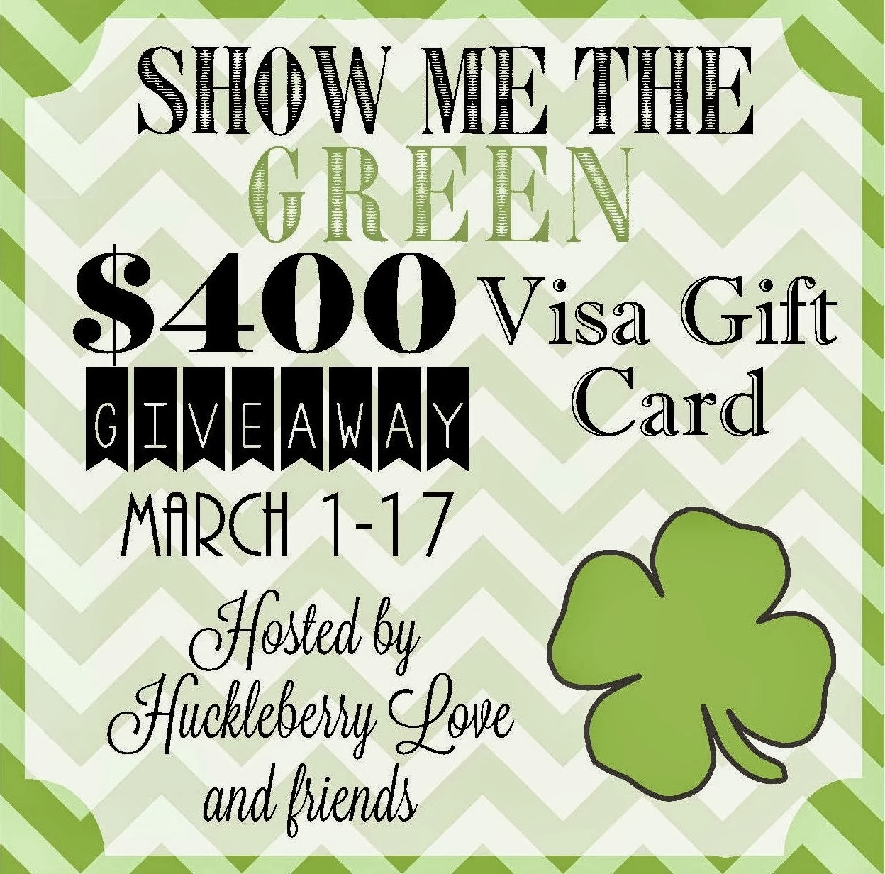 Show Me the Green Cash Giveaway