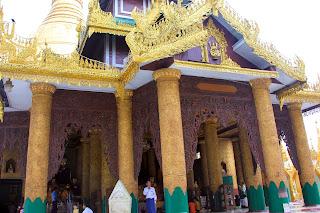 Escalera oeste - Pagoda Shwedagon